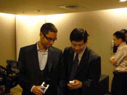 Jerry Shen ( a droite )