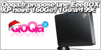 Qoqa.fr propose une EeeBOX B202 noire XP 160Go / 1Go à 199€.