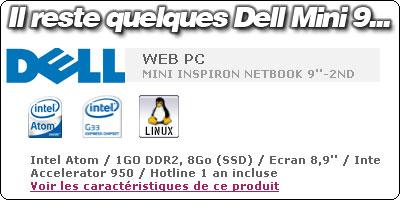 Il reste des Dell Mini 9 d'occasion chez Carrefour à 198.90€