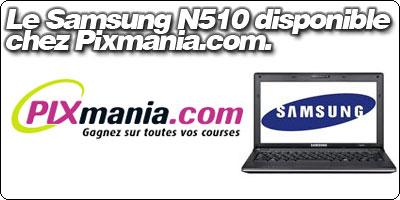 Le Samsung N510 disponible chez LDLC !