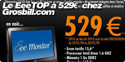 Le EeeTOP à 529€ chez Grosbill.com