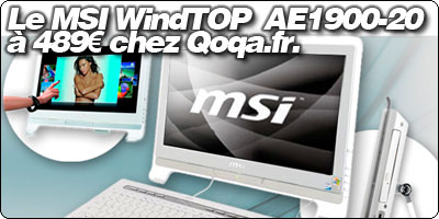Le MSI WindTOP  AE1900-20 à 489€ chez Qoqa.fr.
