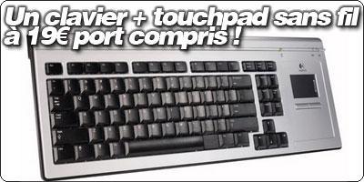 Un clavier + touchpad sans fil Logitech pour votre nettop à 19€ chez Qoqa.fr