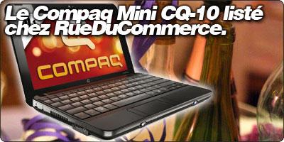 Le HP Compaq Mini CQ-10 à 299€ chez RueDuCommerce.