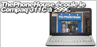 ThePhoneHouse déstocke le HP Mini 311C à 299€.
