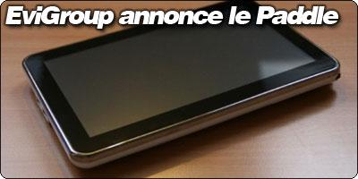 Evigroup annonce le Paddle, une évolution du Pad.