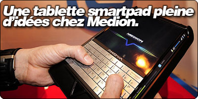 Une tablette Akoya SmartPad pleine d'idées chez Medion.