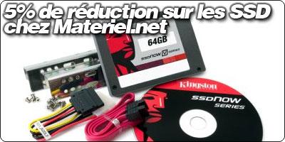 5% de réduction sur les SSD chez Materiel.net