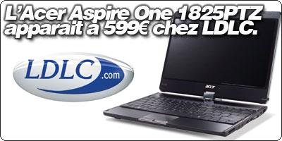 L'Aspire 1825PTZ, le 11.6'' tablet d'Acer, apparait à 599€ chez LDLC.