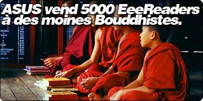 ASUS vend 5000 EeeReader à des moines Bouddhistes.