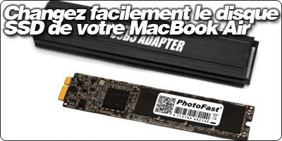 Changez facilement le disque SSD de votre MacBook Air.