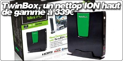 TwinBox, un nettop ION haut de gamme à 339€.