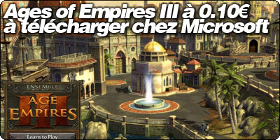 Ages of Empires III à 0.10€ à télécharger chez Microsoft