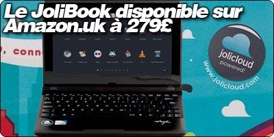 Le JoliBook de Jolicloud disponible sur Amazon.co.uk à 279£