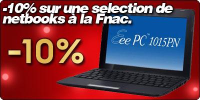 10% sur une sélection de netbooks ce dimanche à la Fnac.
