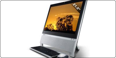 Un Tout-en-un Acer 21.5 pouces Full HD Athlon II 220 X2 Tuner TNT + Graveur en destockage à 499€