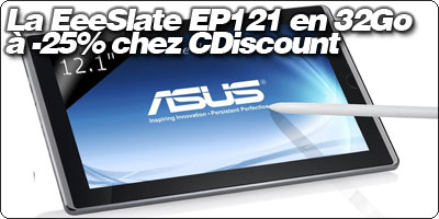 La EeeSlate EP121 en 32Go à -25% chez CDiscount
