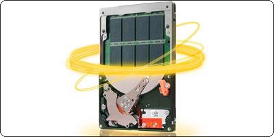 Le disque 2.5 pouces Seagate Momentus 500Go 7200 tours + 4Go SSD à 87.50€