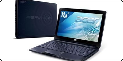 L'Acer Aspire One 722 11.6'' sous AMD C-50 à 299€ en version 500Go / 3 cellules.