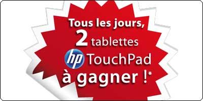 2 tablettes Touchpad à gagner chaque jour avec RueDuCommerce