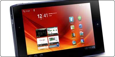 La Acer A100 7'' Tegra 2 à 258.40€ chez RueDuCommerce