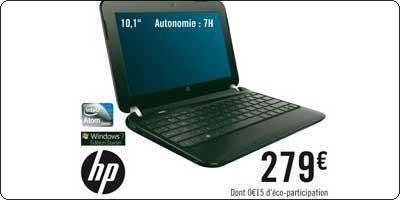 Des netbooks HP sous Atom Cedar Trail en approche