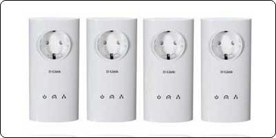 Promo : 4 adaptateurs DHP-P307 200Mbps avec prise pour 69.90€
