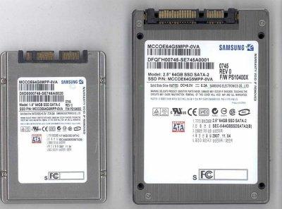 Deux disques SSD 64 Go signés Samsung