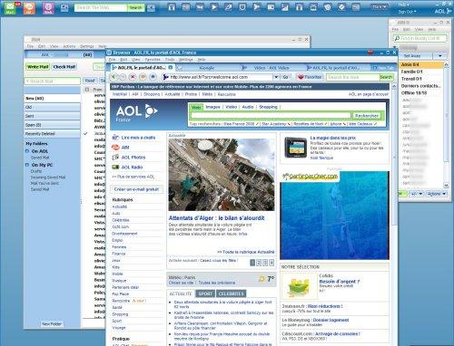 La suite Internet AOL Desktop