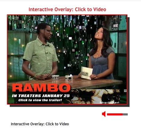 Publicité dans une vidéo
