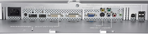 connectique dell 2408wfp