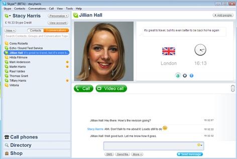 Skype 4.0 bêta