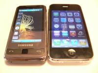 Face à face: Apple iPhone 3G contre Samsung Player Addict