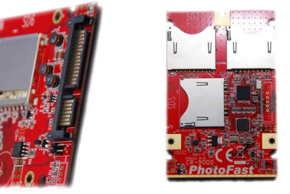 disque SSD avec cartes SDHC