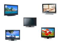 Cinq téléviseurs LCD d'entrée de gamme