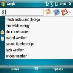 Google Mobile intégré à Windows Mobile