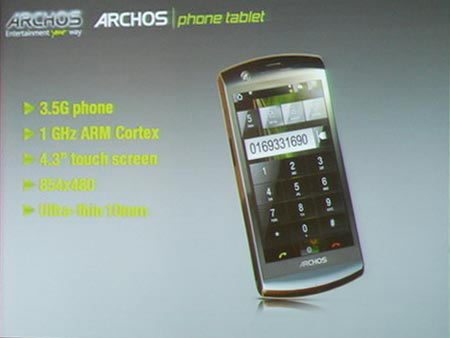 Archos smartphone Android