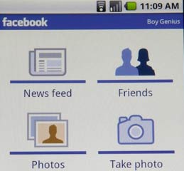 Android 2.0 facebook