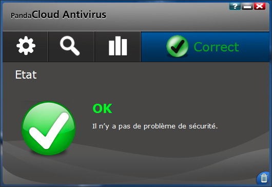 Interface de Panda Cloud Antivirus