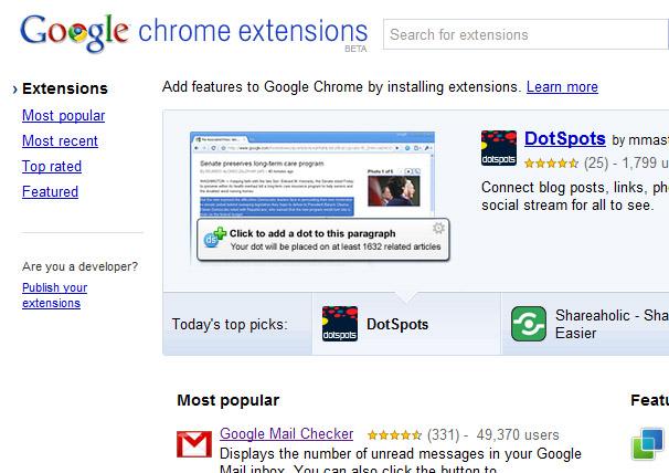 Des extensions pour le navigateur Google Chrome