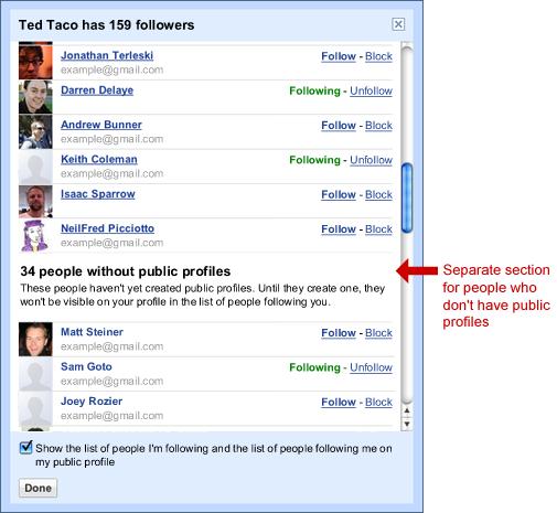 Séparation des profils publics et privés