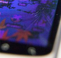 Fissure de l'écran du Nexus One