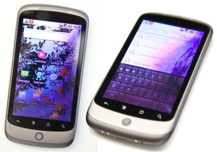 Nexus One avec un écran fissuré