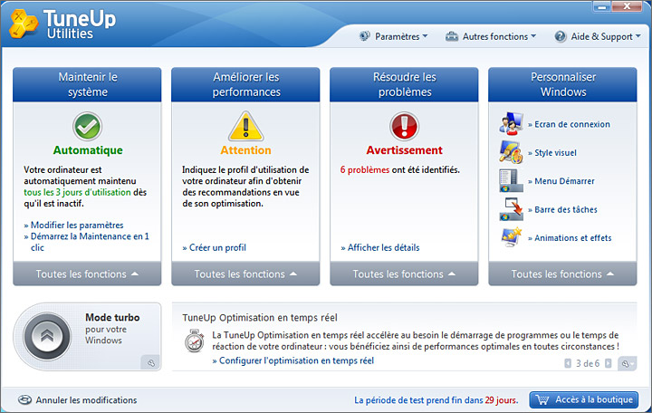 Interface Advance systemcare Free