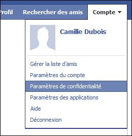 La confidentialité dans Facebook