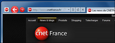 Boutons colorés Internet Explorer