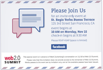 Service email Facebook