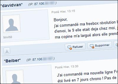 Faux témoignage sur le forum cnet