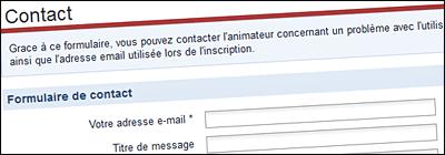 Un formulaire de contact