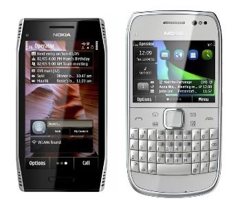 Nokia E6 et X7